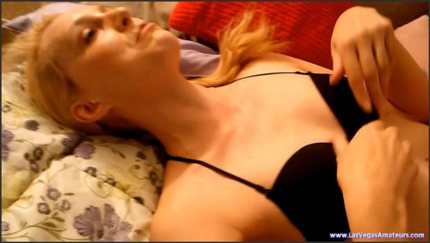 Lasvegasamateurs.com- Ariel Anderssen - Black Top Red Skirt Strip